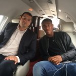 Photo: Anthony Martial and his management on their way to Manchester on Monday [@usfamanagement]: http://t.co/0gdnPP7Lsv