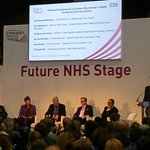 Packed Future NHS Stage hall to hear about @GMHSC_Devo #Expo15NHS Ian Williamson outlines how #GMDevo will deliver http://t.co/R9dNR56ljO
