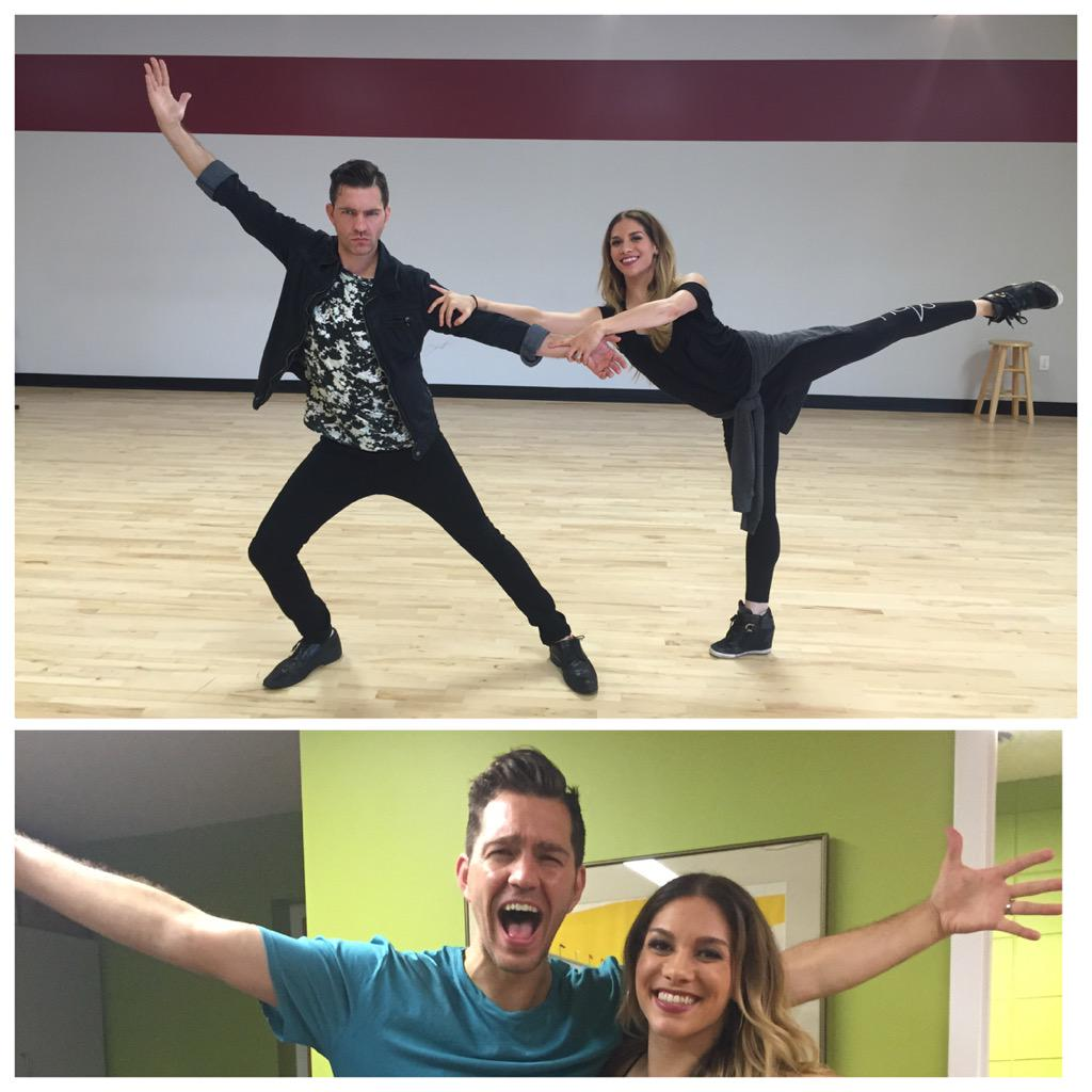 SUPER PUMPED @allisonholker is my dancing partner! She's gonna whip me into shape! #feelingblessed #GOODTOBEALIVE http://t.co/aHmaxHaDHx