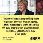 .@NicolaSturgeon has written to @david_cameron stating Scotland will play a full part in EU-wide relocation scheme. http://t.co/mrPZp2mAKm