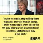 With the UK still rejecting calls to help share the burden, heres what @NicolaSturgeon said earlier #refugeeswelcome http://t.co/4T8QYwqwWc