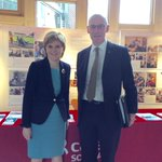 Strong support for #carers from First Minister @NicolaSturgeon and @JohnSwinney @ScotParl exhibition #50years http://t.co/Y2Nuze8GOi