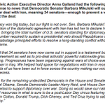 Heres our response to @SenatorBarbs support for #IranDeal; 34 Sens now support, enough to prevent a veto override. http://t.co/pSzWxk2WpW