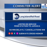 W/B #LIRR service now subject to 60 min delays + cancellations. E/B service out of Penn remains limited. #NBC4NY http://t.co/LBsyD1zXbh