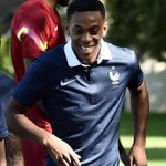 Anthony Martial in France training #MUFC http://t.co/6eCNte5GHo