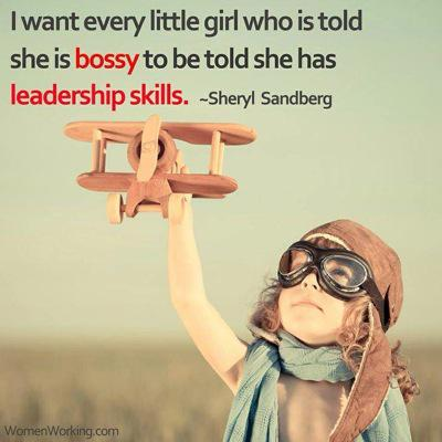 """I want every girl who is told she is bossy to be told she has leadership skills."" @sherylsandberg #banbossy http://t.co/aW7mQEnChn"
