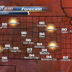 Mostly sunny, hot and breezy today across KAKEland. See the extended forecast here: http://t.co/4zghFAkVjm http://t.co/l7mAtDZd87