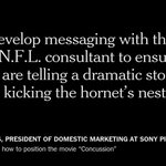 """Sony altered """"Concussion"""" film to deter NFL protests, emails show http://t.co/ebRj4vFFaS http://t.co/LhJBWanxLg"""