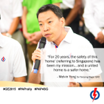 Speaking now at #GE2015 s 1st Rally, representing Tanjong Pagar GRC, is former Police officer, Melvin Yong #PAP4SG http://t.co/ZWCtwZo2za