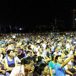 #WPRally #GE2015: Crowd scenes from Workers Party rally at Hougang Central http://t.co/THJCxyl0KZ