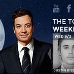 TONIGHT: @JustinBieber and @SalmanRushdie will be here! #FallonTonight http://t.co/lUf8lNnxYO
