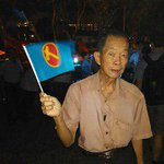 """#GE2015: Hougang resident Patrick Wee, 78, at #WPRally. """"Hope they can offer good balance of views in Parliament."""" http://t.co/5W77p0xgxJ"""