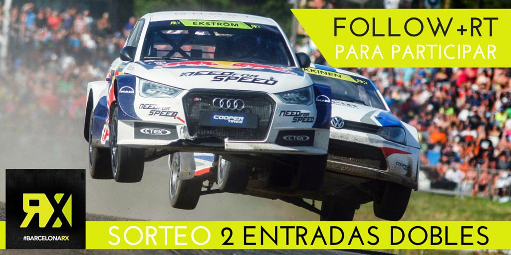Sorteo 2 entradas dobles para el Mundial de RallyCross #BarcelonaRX. Sigue @ClubRACC + RT para participar #RXRACC http://t.co/HmYnd2055t