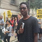 """Shai brought his Bible to protest: """"I consider this a ministry"""" @WUSA9 #FreddieGray hearings http://t.co/1jK0cSac7V"""