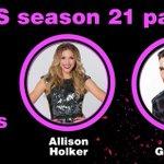 Season 21 @DancingABC Pair: @andygrammer and @Allisonholker. #DWTS #DancingOnGMA http://t.co/sZjokrqdTf