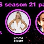 Season 21 @DancingABC Pair: @HayesGrier and @EmmaSlaterDance. #DWTS #DancingOnGMA http://t.co/IndZN6RcSc