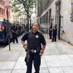 And the sidewalk is being guarded outside of the courthouse. Baltimore. http://t.co/Av9SemXLjj