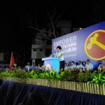 """#WPRally #GE2015 """"Without Hougang, WP wouldnt have Aljunied or Punggol East"""": WP chair Sylvia Lim on rally venue http://t.co/og8VWcY3mc"""