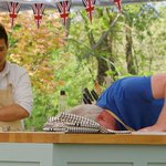 As the other bakers beaver away, Alvin tries desperately to remember the shape of the pitta he ate once #GBBO http://t.co/GcBpXhLa31