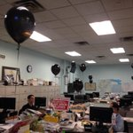 Black balloons are as reminder of tomorrows vigil to mark end of Toledo printing #bladelabor http://t.co/2ciiv0NW2N
