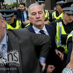 Charles Green is escorted from Glasgow Sheriff Court after being granted bail at his court appearance. http://t.co/IxaWGKIxeP