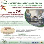 "Congreso Panamericano de Trauma #Bolivia, Noviembre #CPTBolivia2015 @CongresoTrauma http://t.co/P2l3YlAEWD"""