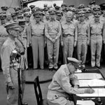 #OTD in 1945, World War II ended on the deck of the USS Missouri. http://t.co/gsC9vy2vpy