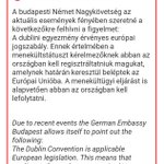 """No, theres no """"free ticket"""" to Germany. @GERinHUN reminds of Dublin obligations http://t.co/9SFnMTzv7l"""