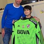 Julián, el nene trasplantado del corazón en el Garrahan, cumplió su sueño: conoció a Barovero Gracias Trapito! http://t.co/yIwDoY3Rxh