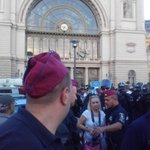 The police nicely warns us, Migszol members that we might not be spared from force #keleti #refugees http://t.co/0FKSSZVx4s
