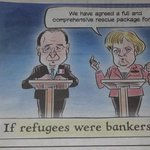 """Absolute genius by """"Irish Independent"""".. if refugees were bankers http://t.co/TR3PkuXVXp"""