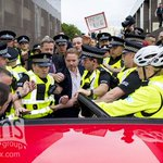 Former #Rangers owner Craig Whyte is ushered into a car after leaving Glasgow Sheriff Court this evening. http://t.co/7ZP2S5cOiG