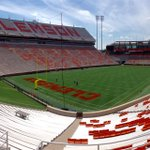 Paint is going down on Frank Howard Field for the season opener! #SolidOrange #IPTAY #GoTigers #NoFilter http://t.co/eF7T32Y0am