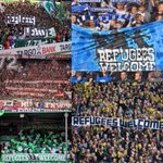 As always, football leads. #RefugeesWelcome http://t.co/42eNWku9Uc