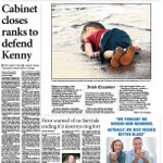 The editor of the @irishexaminer explains the papers decision to print picture of Aylan. http://t.co/XjgtXSVwyC