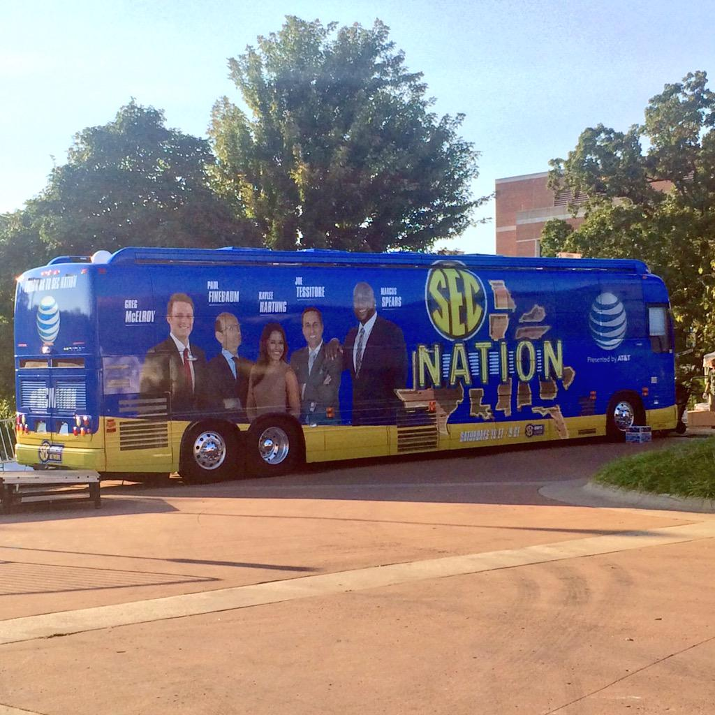 #SECNation has arrived here at the University of Arkansas.