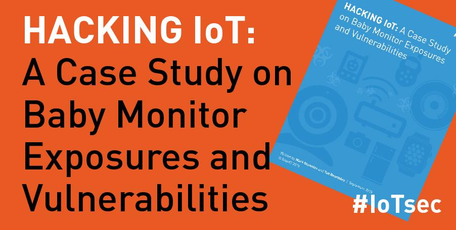 Read the full case study on the #IoTsec baby monitor vulnerabilities we disclosed today: https://t.co/AyqEgSGcAc #iot http://t.co/UbrKKk4pfL