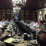Pdte. JOH en reunion con expertos hídricos, para hacer frente a la crisis ocasionada por la sequía @HildaHernandezA http://t.co/wMcJWbpTbS