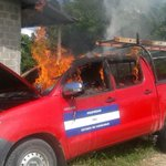 Malhechores incendian carro de la ENEE en Colón http://t.co/5eGh9QpD6s http://t.co/QsgB3PrIQo
