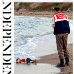 The Sun and The Times also lead with the image of the baby on the beach tomorrow #refugeeswelcome http://t.co/jMLCRQ3DlC