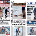 Powerful UK newspaper front pages #tomorrowspaperstoday #bbcpapers http://t.co/HzeXkhSYi1