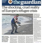 The Guardian front page, Thursday 3 September 2015: The shocking, cruel reality of Europes refugee crisis http://t.co/Na95BUUhZR
