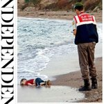 Two photos of 3-year-old Aylan Kurdi who was found on a beach in Turkey. @David_Cameron MUST act on this crisis NOW http://t.co/sfd11DHmhz