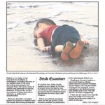Irish Examiner editor Tim Vaughan explains his decision to publish the pic of Aylan Kurdis body on its front page http://t.co/4I3lDE8j1o