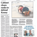 So the @irishexaminer decided to run the full image on page one. #refugeeswelcome http://t.co/UPThpnveBZ