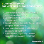 Want to live a holy life? Run every activity through a filter of conviction. Here are 5 Questions to help: http://t.co/ioGqCQ489R