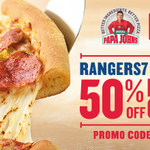 #Rangers7 in effect today w 50% off pizza from @PapaJohns w/code Rangers7. Select locations: http://t.co/JOwqqSe2QQ http://t.co/nLws2uhVkQ