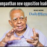DMbreakingnews: Sampanthan new opposition leader #SriLanka  http://t.co/t3DYzexIwu:    DailyMirror  @DMbre... http://t.co/27EyVLYN31
