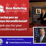 Gracias a @RonNehring por apoyar al @PNacionalHND en el entrenamiento de sus lideres. http://t.co/TrO7newS9j