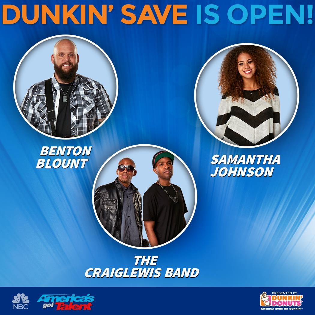 Save @craiglewisband !!! #dunkinsave #dunkindonuts #AGT #AGTResults #AmericasGotTalent #craiglewisband http://t.co/zBqILeX7br